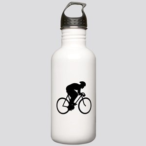 Cyclist Silhouette. Water Bottle