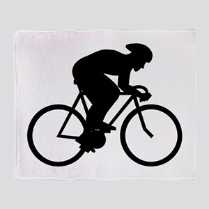 Cyclist Silhouette. Throw Blanket