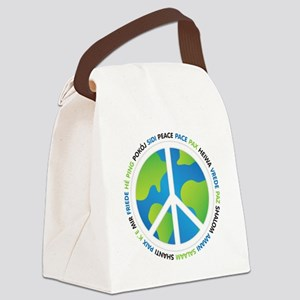 World Peace Sign Canvas Lunch Bag