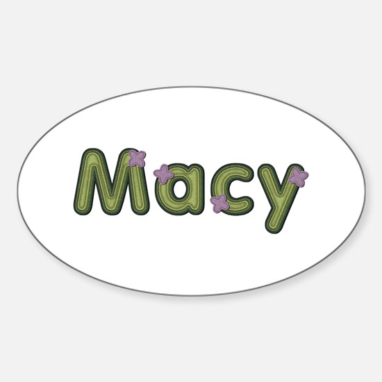 Macy Spring Green Oval Decal