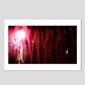 Fireworks with Flag Postcards (Package of 8)
