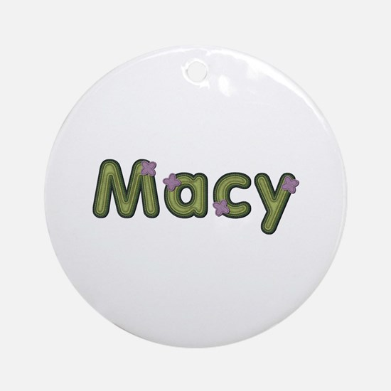 Macy Spring Green Round Ornament