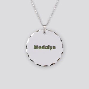 Madalyn Spring Green Necklace Circle Charm