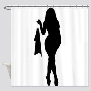 Sexy Pin Up Girl Silhouette Shower Curtain