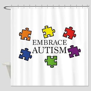 Embrace Autism Shower Curtain