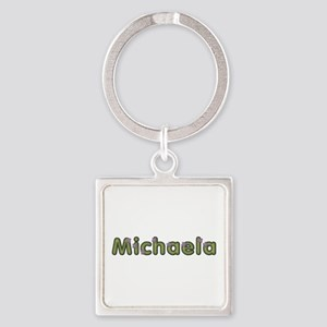Michaela Spring Green Square Keychain