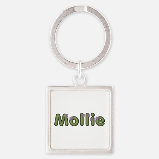 Mollie Spring Green Square Keychain