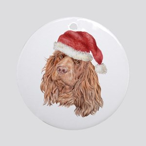 Christmas Sussex Spaniel Ornament (Round)