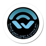 WiGLE Blue Round Car Magnet