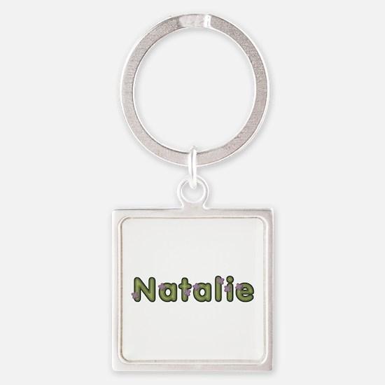Natalie Spring Green Square Keychain