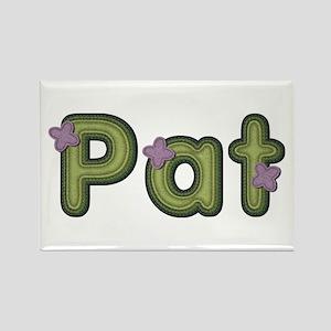 Pat Spring Green Rectangle Magnet