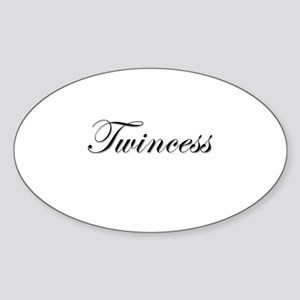 Twincess - Oval Sticker