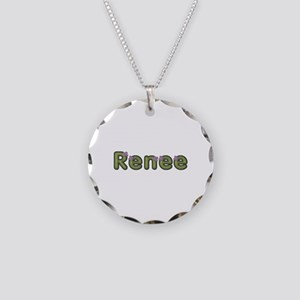Renee Spring Green Necklace Circle Charm