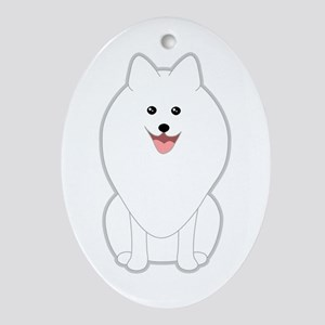 Dog. Spitz or Pomeranian. Ornament (Oval)