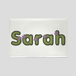 Sarah Spring Green Rectangle Magnet
