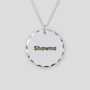 Shawna Spring Green Necklace Circle Charm
