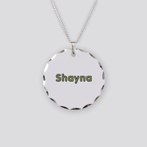 Shayna Spring Green Necklace Circle Charm