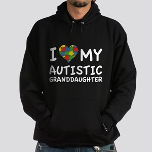 I Love My Autistic Granddaughter Hoodie (dark)
