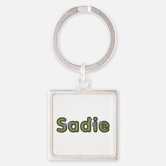Sadie Spring Green Square Keychain