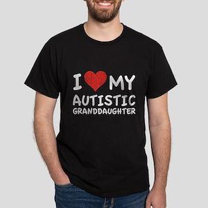 I Love My Autistic Granddaughter Dark T-Shirt