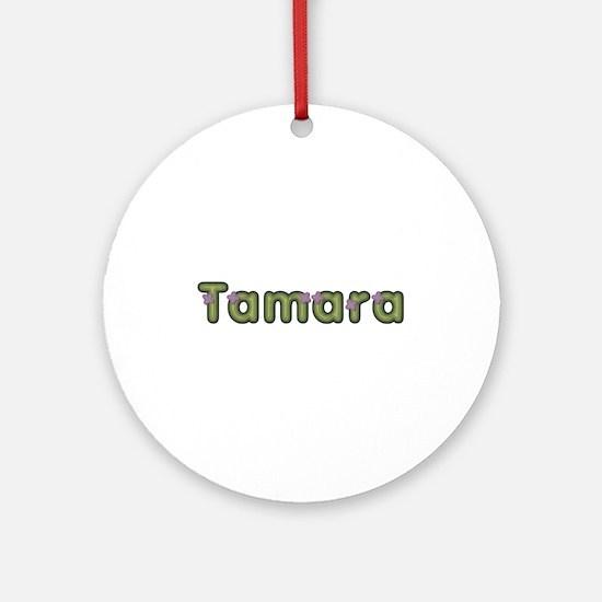 Tamara Spring Green Round Ornament