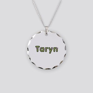 Taryn Spring Green Necklace Circle Charm