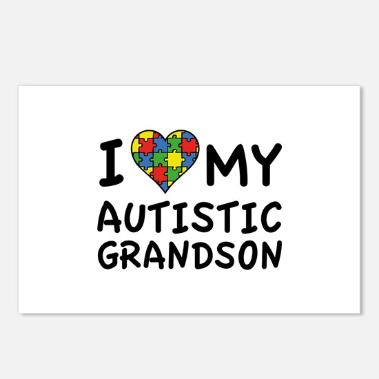 I Love My Autistic Grandson Postcards (Package of
