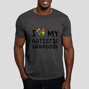 I Love My Autistic Grandson Dark T-Shirt