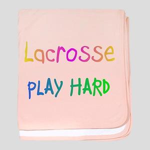 Lacrosse Play Hard baby blanket