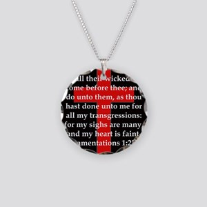 Lamentation 1-22 Necklace Circle Charm