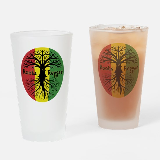 Roots Reggae Designs-3 Drinking Glass