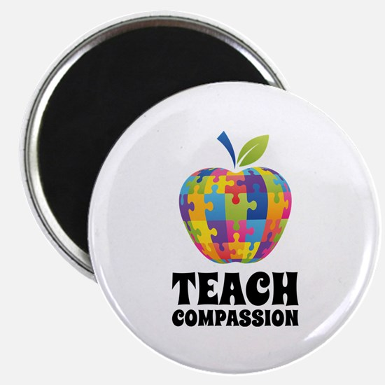 "Teach Compassion 2.25"" Magnet (10 pack)"
