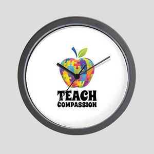 Teach Compassion Wall Clock