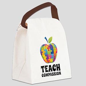 Teach Compassion Canvas Lunch Bag