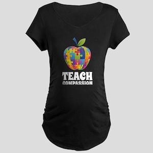 Teach Compassion Maternity Dark T-Shirt