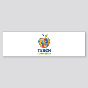 Teach Compassion Sticker (Bumper)