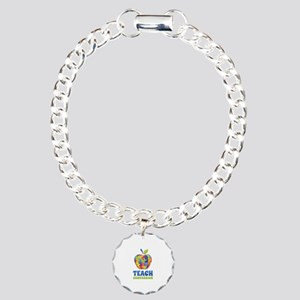 Teach Compassion Charm Bracelet, One Charm