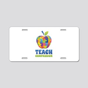 Teach Compassion Aluminum License Plate