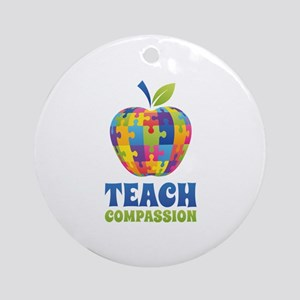 Teach Compassion Ornament (Round)