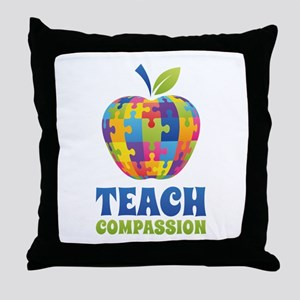 Teach Compassion Throw Pillow