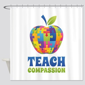 Teach Compassion Shower Curtain
