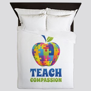 Teach Compassion Queen Duvet