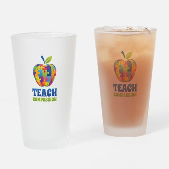Teach Compassion Drinking Glass