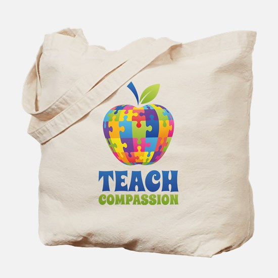 Teach Compassion Tote Bag