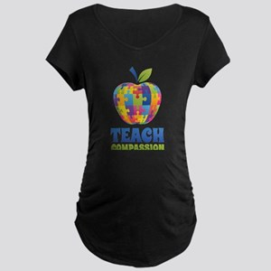 Teach Compassion Maternity Dark T-Shirt