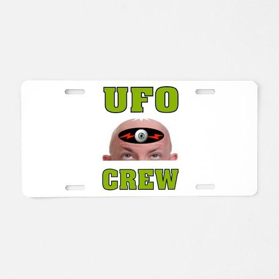 UFO CREW Aluminum License Plate