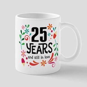 25th Wedding Anniversary Gift Mugs