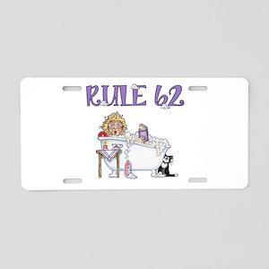 RULE 62 Aluminum License Plate