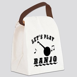 Let's Play Banjo Canvas Lunch Bag
