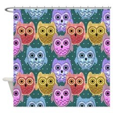 country owls Shower Curtain